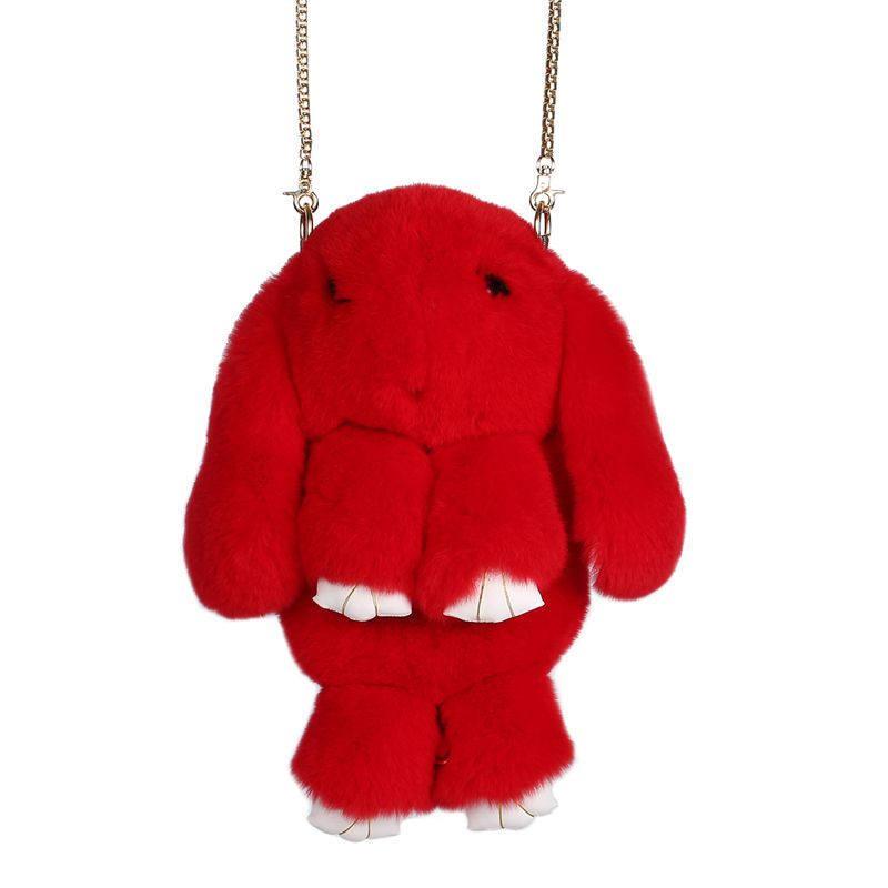 Красный вариант цвета сумки кролик