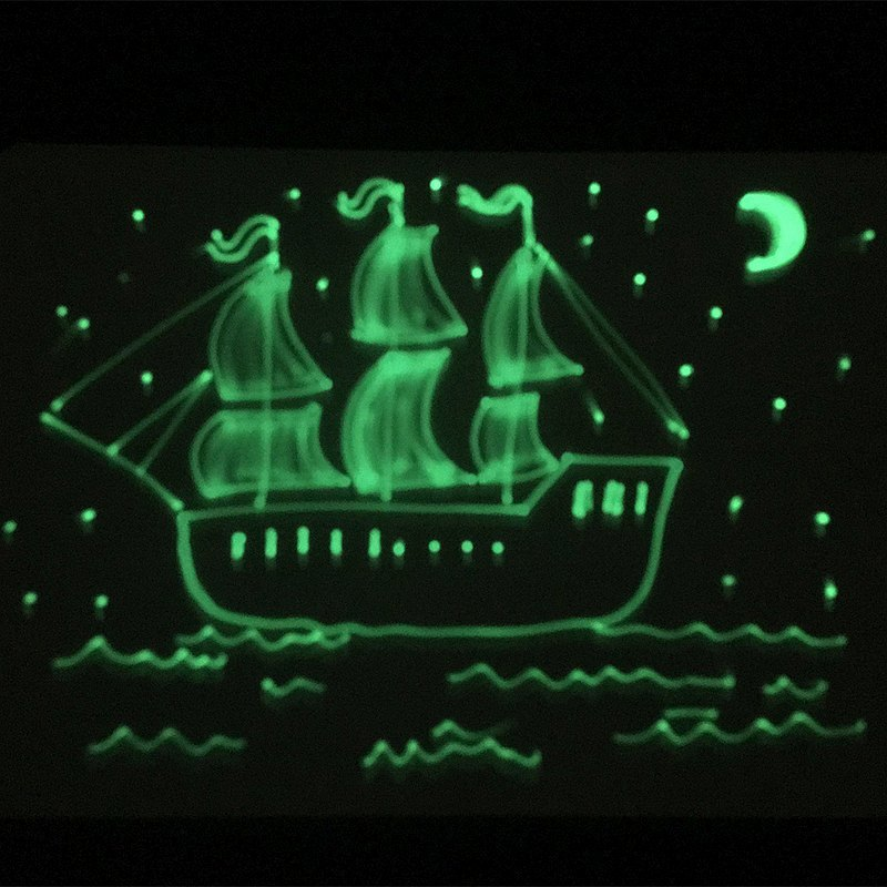 Рисунок светом Кораблик