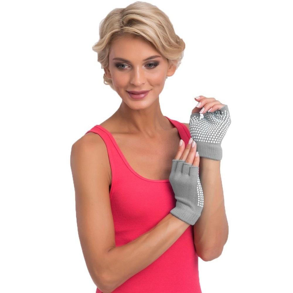 Перчатки для йоги противоскользящие
