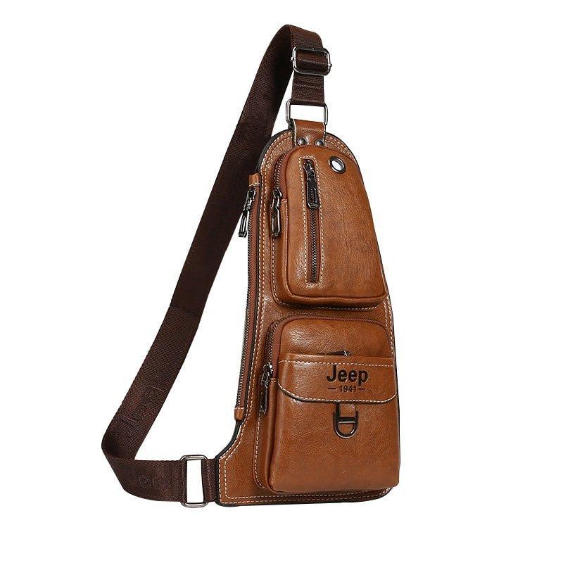 Мужская сумка Jeep светло-коричневый