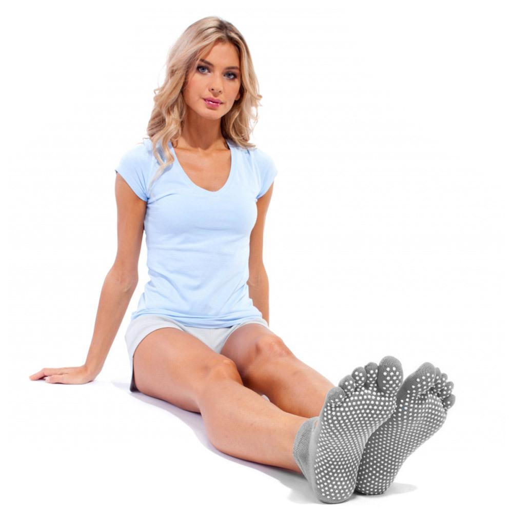 Носки противоскользящие для занятий йогой